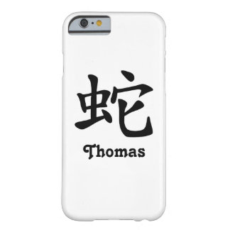 Chinese Zodiac - Snake - Black Barely There iPhone 6 Case