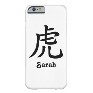 Chinese Zodiac - Tiger - Black Barely There iPhone 6 Case