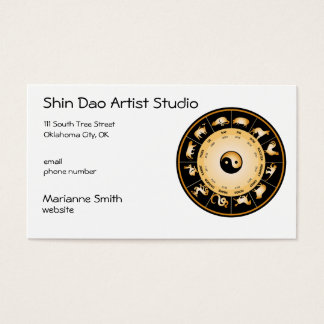 Chinese Zodiac Wheel Business Card
