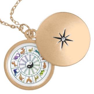 Chinese Zodiac Wheel Necklace