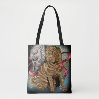 Chinese Zodiac Year of the Dog Tote Bag