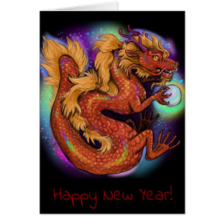 Chinese Zodiac Year of the Dragon Card