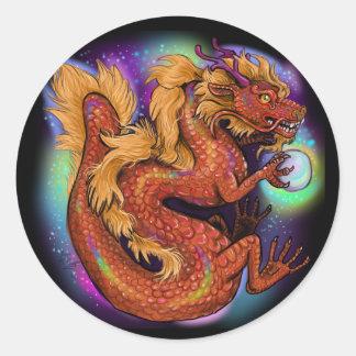 Chinese Zodiac Year of the Dragon Classic Round Sticker