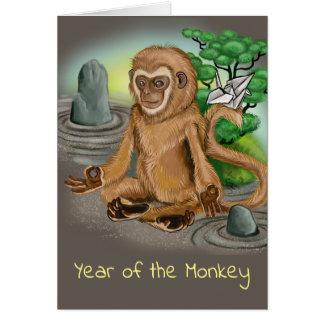 Chinese Zodiac Year of the Monkey Card
