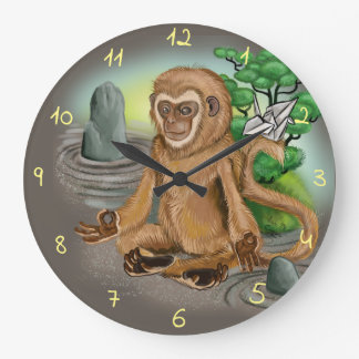 Chinese Zodiac Year of the Monkey Large Clock