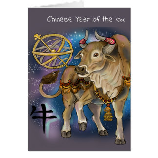 Chinese Zodiac Year of the Ox Card