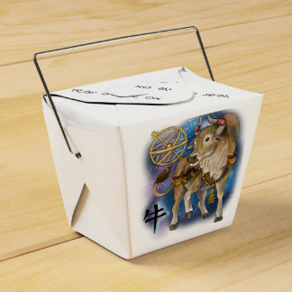 Chinese Zodiac Year of the Ox Favour Box
