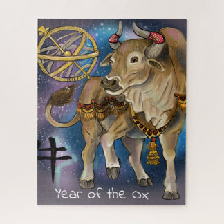 Chinese Zodiac Year of the Ox Jigsaw Puzzle