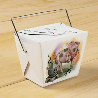 Chinese Zodiac Year of the Pig Favour Box
