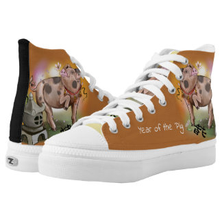 Chinese Zodiac Year of the Pig High Tops