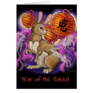 Chinese Zodiac Year of the Rabbit Card