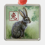 Chinese Zodiac Year of the Rabbit Ornament