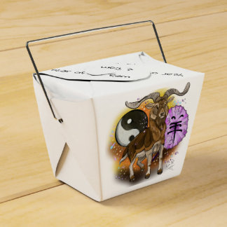 Chinese Zodiac Year of the Ram Favour Box