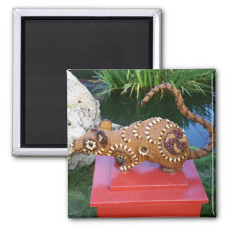 Chinese Zodiac, Year of the Rat Square Magnet