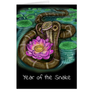 Chinese Zodiac Year of the Snake Card