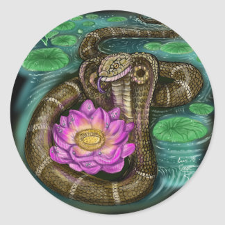 Chinese Zodiac Year of the Snake Classic Round Sticker