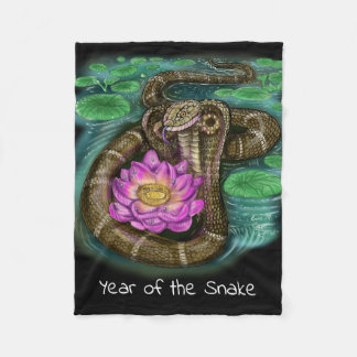Chinese Zodiac Year of the Snake Fleece Blanket