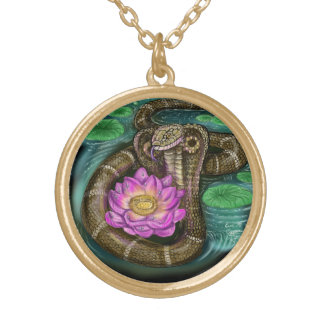 Chinese Zodiac Year of the Snake Gold Plated Necklace
