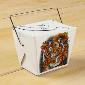 Chinese Zodiac Year of the Tiger Favour Box