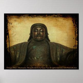 Chinggis Khan, Ulaanbaatar, Mongolia Poster