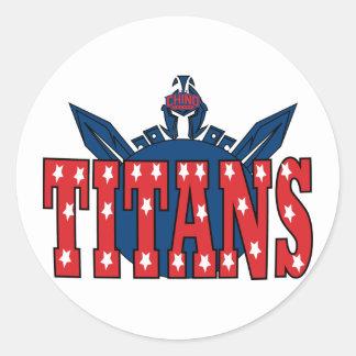 Chino Valley Titans Clear Sticker