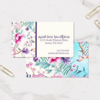 Chinoiserie Floral Pattern Business Card