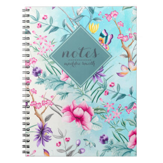 Chinoiserie Floral Pattern Note Book