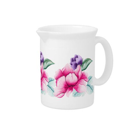 Chinoiserie Floral Pattern Pitcher