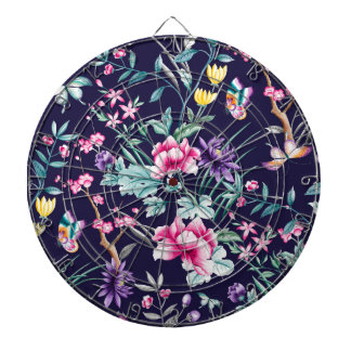 CHINOISERIE - NAVY BASE DARTBOARD