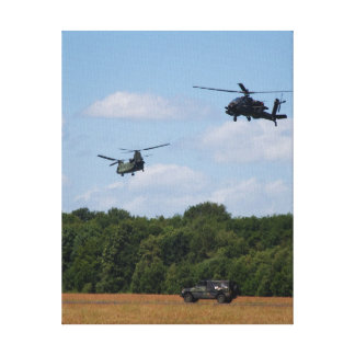 Chinook, Apache, Jeep on canvas Canvas Print