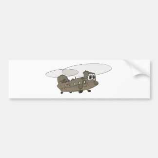 Chinook Helicopter Cartoon Bumper Stickers