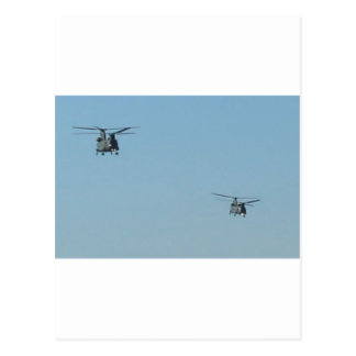 Chinook Helicopters Postcard