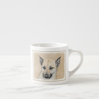 Chinook (Pointed Ears) Painting - Original Dog Art Espresso Cup