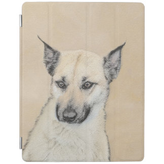 Chinook (Pointed Ears) Painting - Original Dog Art iPad Cover