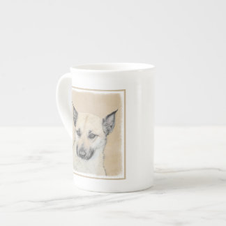Chinook (Pointed Ears) Painting - Original Dog Art Tea Cup