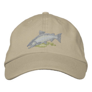 Chinook Salmon Embroidered Cap