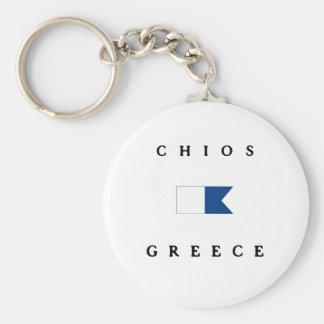 Chios Greece Alpha Dive Flag Key Chains