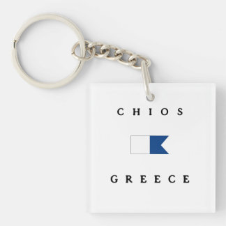 Chios Greece Alpha Dive Flag Key Ring