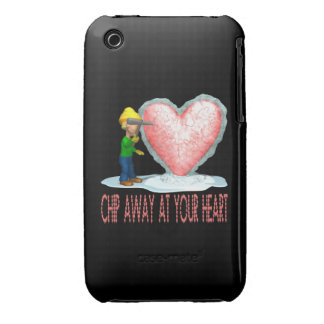 Chip Away At Your Heart iPhone 3 Case-Mate Cases