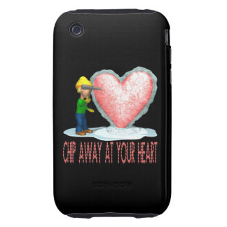 Chip Away At Your Heart iPhone 3 Tough Case