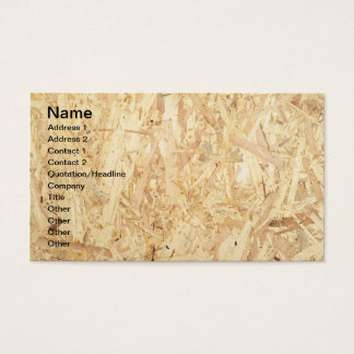 Chipboard surface business card