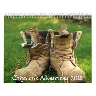 Chipmunk Adventures 2012 Calendar