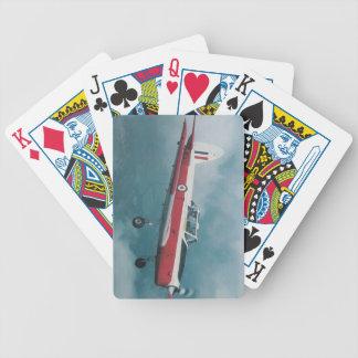 chipmunk airplane bicycle playing cards