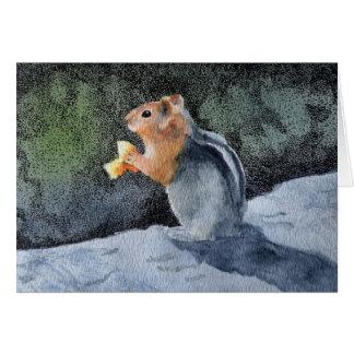 Chipmunk Blank Card