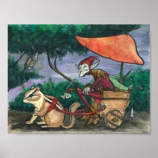 """""""Chipmunk Cart"""" Faerie Print"""