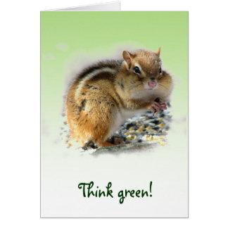Chipmunk Earth Day Card