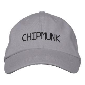CHIPMUNK EMBROIDERED HAT