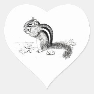 Chipmunk Heart Sticker