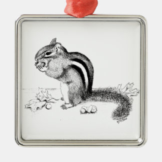 Chipmunk Metal Ornament