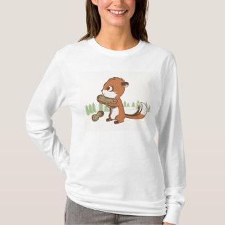 Chipmunk & Peanuts long sleeve shirt for women
